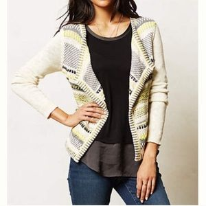 Anthropologie Moth Chaux Cardigan Sweater Metalic